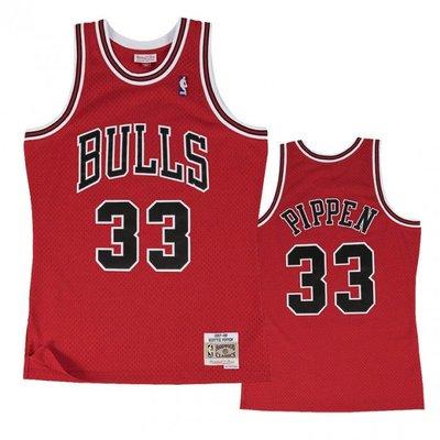 【現貨優惠】Mitchell & Ness M&N 公牛隊 Scottie Pippen 復刻 G1 電繡 球衣
