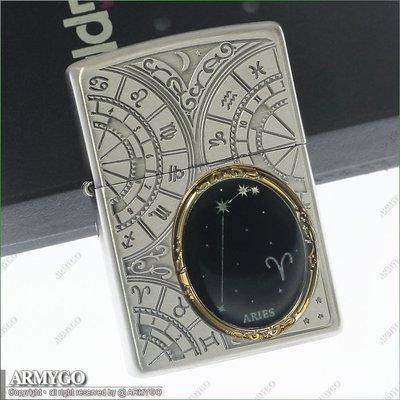 【ARMYGO】ZIPPO原廠打火機-日系-星座系列- 牧羊座 (03/21 - 04/19)