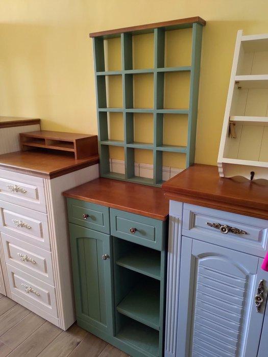 戀戀小木屋 墨綠色 原木 玄關櫃 鞋櫃   收納櫃。現貨