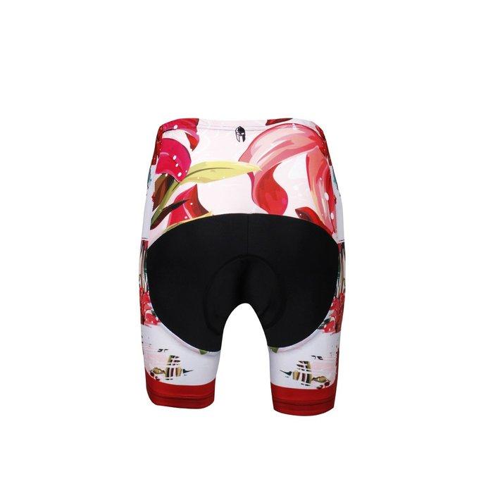 【Paladin】女款短袖車褲 :: 紅百合