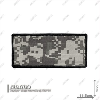 【ARMYGO】ACU數位迷彩空白布名條 ( 5*11.5 公分 )