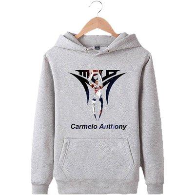 🏀甜瓜Carmelo Anthony安東尼長袖連帽T恤上衣🏀NBA拓荒者隊Adidas愛迪達運動籃球服大學棉男103
