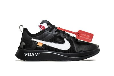 Nike Zoom Fly Off-White Black Silver  兩色