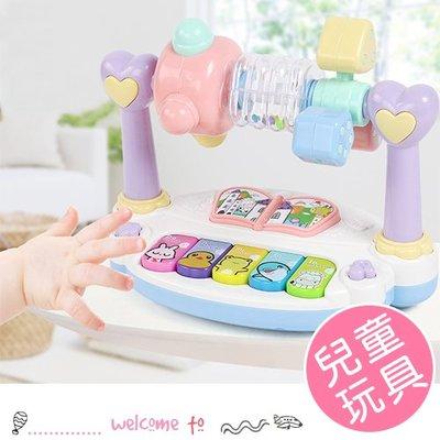 八號倉庫 兒童多功能打地鼠旋轉音樂琴 玩具【1A020G952】
