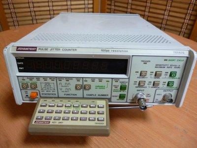 康榮科技二手儀器 Advantest TR5835+TR15001 Pulse Jitter Counter+Key