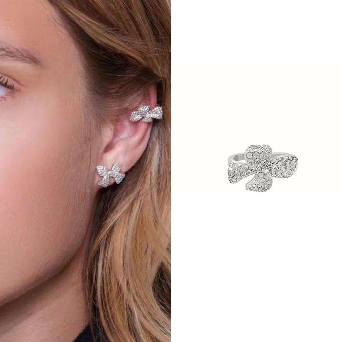 💎1860、搭配好幫手!溫柔氣質法國結晶鑽耳骨夾💎  精品 耳環 輕奢飾品 正韓飾品 925純銀針