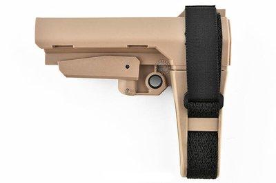 [01] SBA3 M4 AR15 戰術槍托 沙 ( 槍托後托BB槍M16 MP5狙擊槍UZI衝鋒槍M4卡賓槍AR步槍