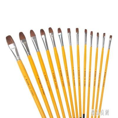 黃桿水粉筆套裝單支美術用水彩油畫筆顏料筆丙烯畫刷學生美術專用