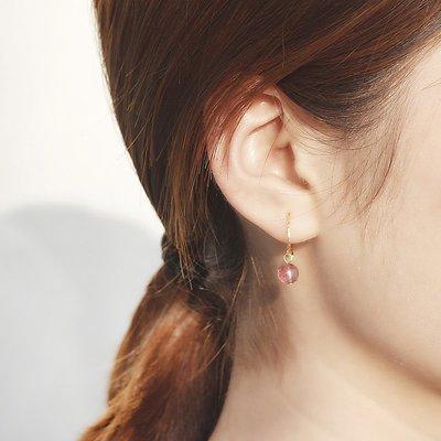 耳環 小巧 耳飾 簡約 大方 草莓晶耳環森系小耳墜超仙少女心耳釘韓國網紅顯臉瘦
