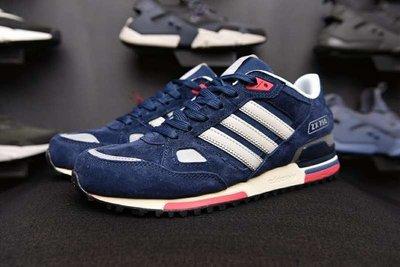 Adidas ZX 750 愛迪達 三葉草 深藍色 經典 復古 慢跑 休閒鞋 情侶鞋