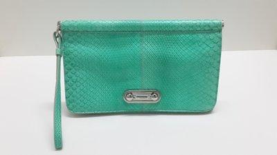 TODS(TODS) 義大利製 全新 綠色真皮 手拿包 晚宴包 附購入時發票影本 可用三 倍 振 興卷