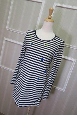 *beauty*   a la sha黑白條紋長袖T恤 S號   1000   元GR