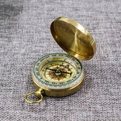 指南針 夜光指北針(1入)-銅製懷錶式登山露營戶外用品73pp456[獨家進口][米蘭精品]