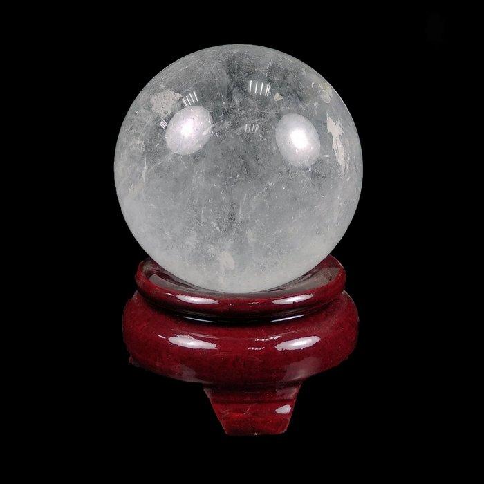《博古珍藏》頂級天然巴西白水晶球.462公克.直徑6.9公分.鎮宅正能量安神.辦公室擺飾.底價回饋