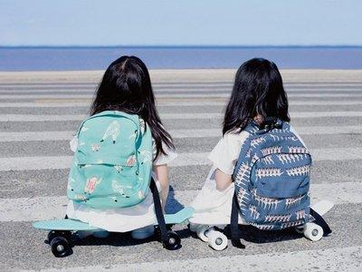 HAPPY+【V5080】mini印花帆布雙肩包 兒童背包 學生書包  學生書包 情侶書包帆布包 親子雙肩包