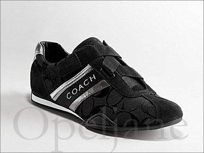 現貨 Coach Shoes 黑色自黏無鞋帶 布鞋 休閒鞋 羽球鞋懶人鞋 懶人鞋 慢跑鞋8.5號  25.5號 免運費