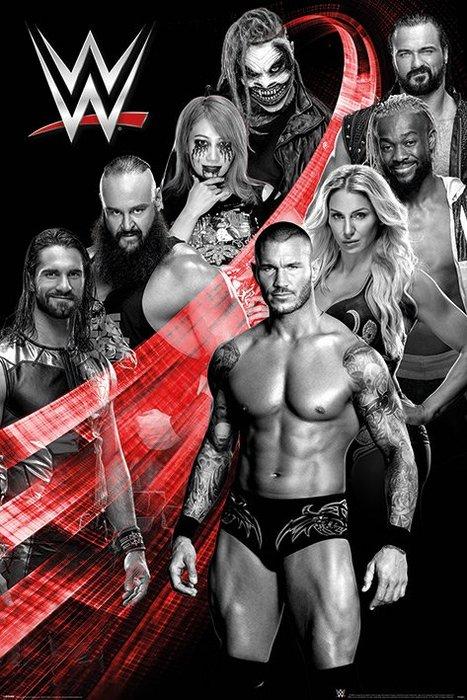 英國進口海報 PP34691( 美國職業摔角 WWE (Superstars Swoosh) )