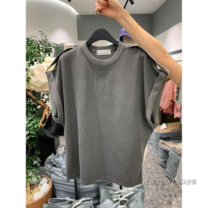❤Princess x Shop❤韓國東大門無袖t恤時尚設計感寬鬆百搭上衣TS21-22-5