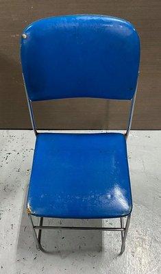 二手家具 台中 樂居全新中古傢俱買賣 F0406EJ 藍色皮椅 洽談椅 電腦椅 書桌椅 會客椅 2手各式家具拍賣