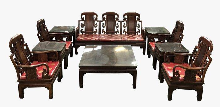 宏品二手家具大里 RW11201*花梨木12件式古董椅*全新中古傢俱家電 2手桌椅 滿千送百豐富喜悅 台北桃園新竹苗栗