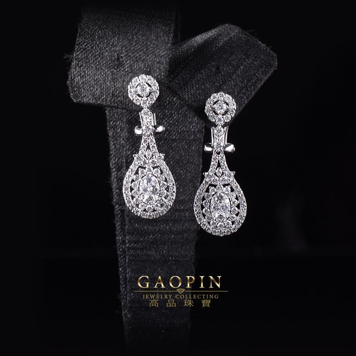 【高品珠寶】18K 設計款《圖騰》鑽石耳環 真金真鑽 情人節禮物 生日禮物 #3591