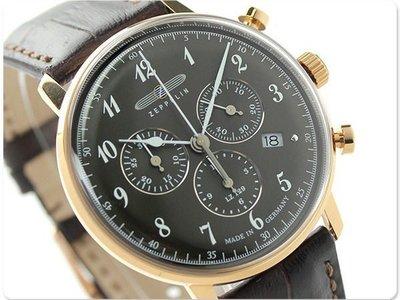 ZEPPELIN 齊柏林飛船 手錶 LZ129 40mm 德國 飛行錶 航空錶 7084-2