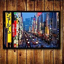 日本夜景風景裝飾畫日式餐廳料理壽司店海報榻榻米居酒屋壁掛牆畫(9款可選)