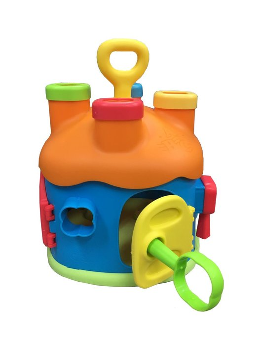 【阿LIN】900187 益智 奇趣屋 積木屋 形狀 鑰匙 房屋 趣味小屋 玩具 益智玩具