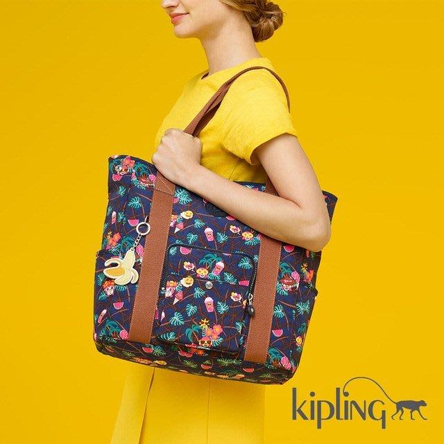 1800元含郵資賠售全新公司正品【KIPLING】Emoji 系列 夏日湛藍手提包