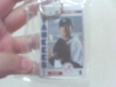 全新MLB美國大聯盟洋基 王建民紀念鑰匙圈吊飾