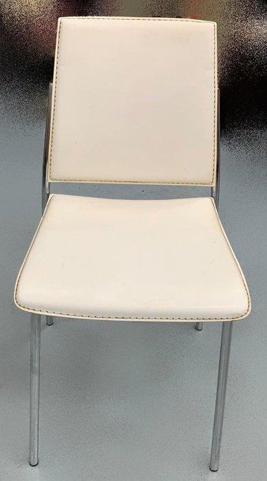 【宏品二手家具】二手家具 家電 F81642*白色皮書桌椅* 全新二手家具家電買賣 各式OA辦公家具大特賣