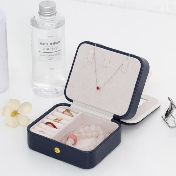 YEAHSHOP 小首飾盒多層便攜旅行飾品盒收納盒~Y185