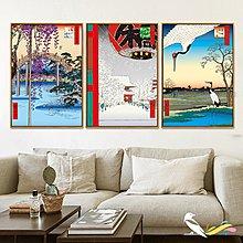 浮世繪日式掛畫日式料理店牆畫餐廳酒屋榻榻米壁掛畫有框畫裝飾畫(多款可選)