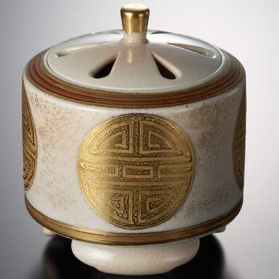 【新月集】清水燒(日本三大名燒)丸紋壽 香爐