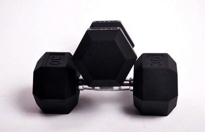 男士10 20 30公斤包膠電鍍六角啞鈴 私教工作室健身器材