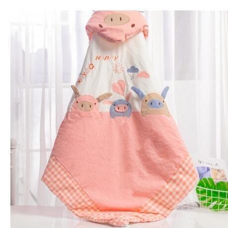 嬰兒抱被冬加厚外出初生包被新生兒用品寶寶小被子冬天襁褓被