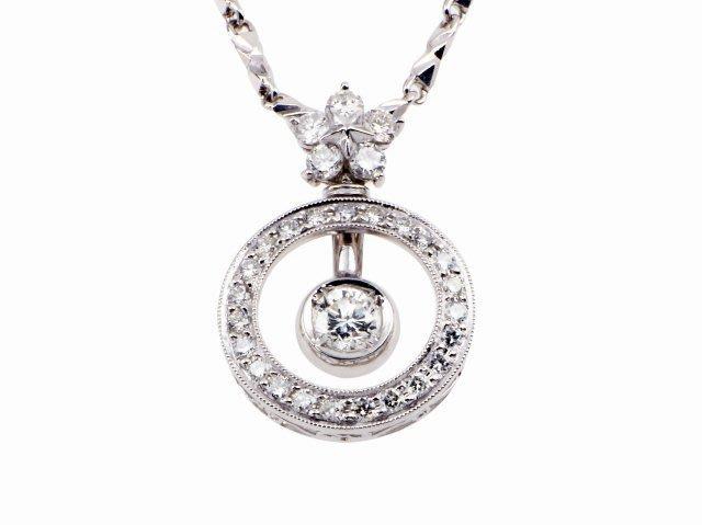 【JDPS 久大御典品 / 美鑽專賣】天然鑽石項鍊 0.36克拉 簡單年輕造型 配鑽28顆 白K金檯 編號I-11329