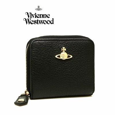 Vivienne Westwood (黑色)真皮 兩摺短夾 皮夾 錢包|100%全新正品|特價!
