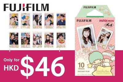 [DJS COMMERCE] Fujifilm instax mini film Little Twin Stars 富士即影即有雙子星相紙只售 $46 咋‼️
