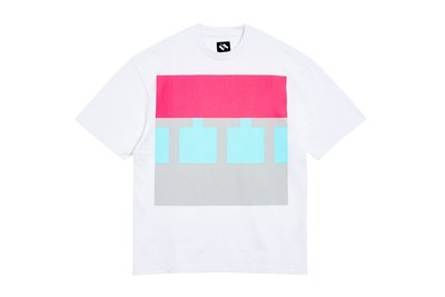 "[ LAB Taipei ] THE TRILOGY TAPES ""BLOCK T-SHIRT"" (White)"