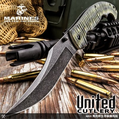 馬克斯 - United 美國聯合刀廠 / USMC Scorching Sands石洗折刀 / UC-3291