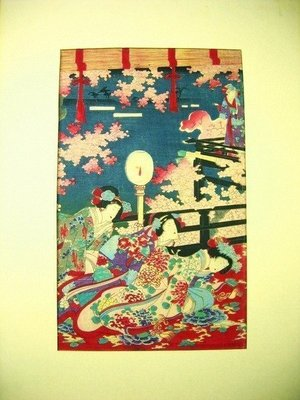 ((天堂鳥)) 日本人物絹布版畫 #200