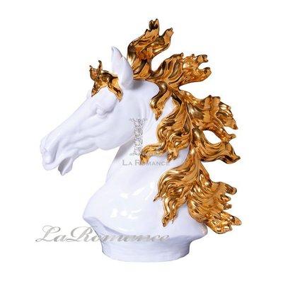 【芮洛蔓 La Romance】帝凡內系列動物擺飾 一馬當先 - 大