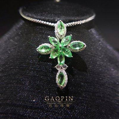 【高品珠寶】1.89克拉哥倫比亞微油袓母綠十字架墜子 女墜 (已售出可訂製) #1215