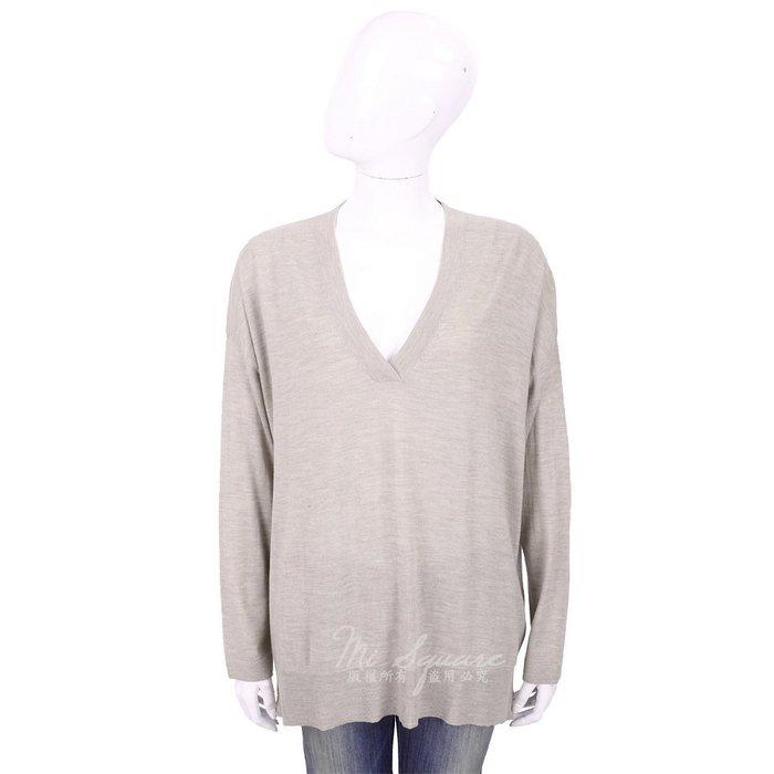 米蘭廣場 ALLUDE 100%羊毛淺灰V領輕暖針織羊毛衫 1740229-06