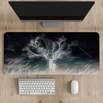 辦公快捷鍵PS超大鼠標墊電腦桌墊加厚鎖邊定制定做電腦游戲鍵盤墊~特價-朵朵云2件起售
