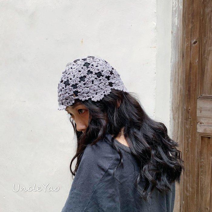 BELOCO 服飾周邊UNCLEYAO舊時光的美人~復古VINTAGE手工鉤花盆帽森女帽子印度帽子BE655