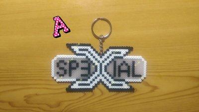 ♥~魚小舖~♥ 拼豆 膠珠 SpeXial 特使 偶像團體 eXtra Special 鑰匙圈/材料組 (3mm迷你豆)
