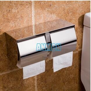 【優上】衛生間不銹鋼雙捲紙盒 雙捲紙架紙巾盒廁紙架