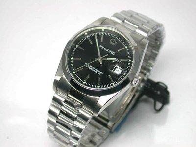 不鏽鋼日期顯示黑色時尚錶